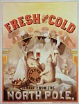Fresh and cold Lager Beer Advertising Poster 1877
