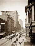 Randolph St. east from LaSalle St. Chicago 1900