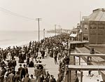 Atlantic City, New Jersey, crowds on the Boardwalk