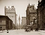 Philadelphia, Broad St. north from Spruce St