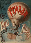 Ascensione del cave. Emile Julhes Italian Balloon Poster