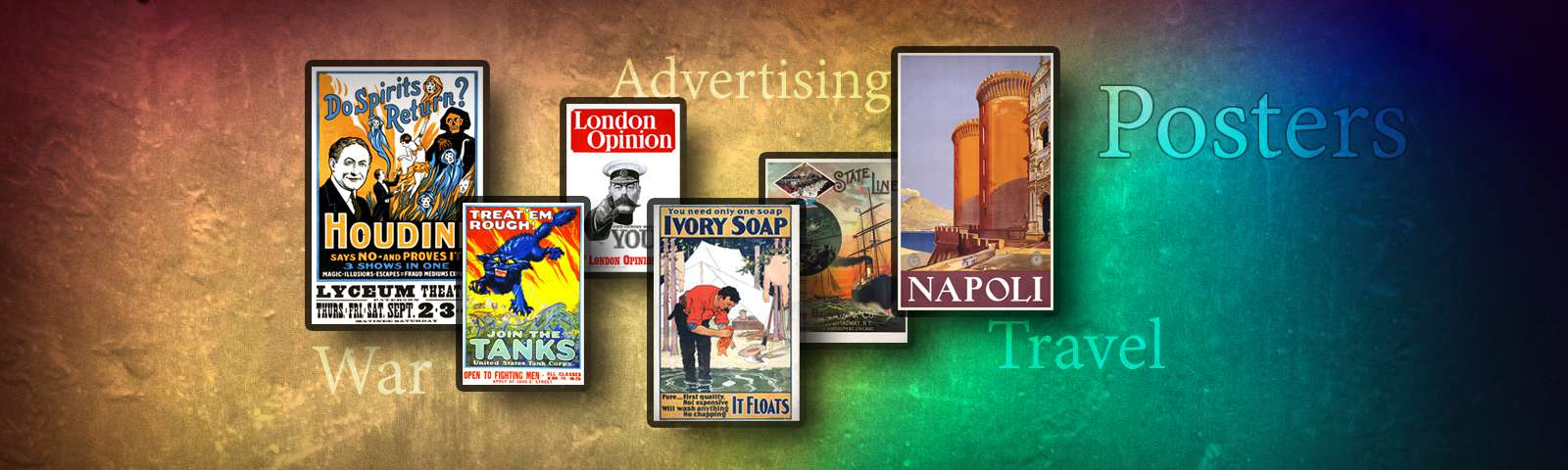 Posters - World War, Travel, Advertising...