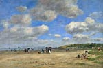The Beach at Tourgeville les Sablons Eugene Boudin