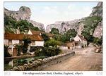 The village and Lion Rock, Cheddar, England