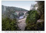 Ambergate, railway bridge over River Derwent, Derbyshire, Englan