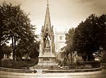 Bishop Hooper Monument, Gloucester. Photographed between 1865-18