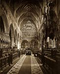 Exeter Cathedral Choir from Westold victorian photo