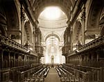 London. Interior of St. Paul's Cathedral, Choir seen from East