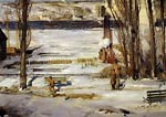 A Morning Snow - Hudson River George Bellows
