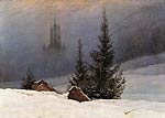 Winter landscape with a church Caspar David Friedrich