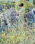 Woman in the garden Frederick Carl Frieseke