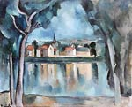 Town on the Bank of a Lake Maurice de Vlaminck