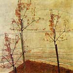 Autumn Trees Egon Schiele