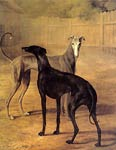 Rolla and Portia (greyhounds) Jacques Laurent Agasse