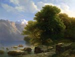 The Lake of Thun Alexandre Cabanel