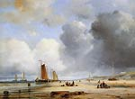 Beach View With Boats Ary Pleysier