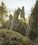 Rock Gate in Neyratene Caspar David Friedrich