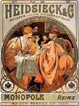 Heidsieck and Co 1901 Alphonse Mucha