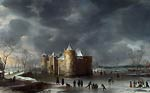 The Castle of Muiden in Winter Jan Abrahamsz Beerstraaten