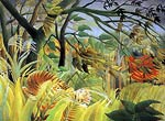 Surprise! Storm in a Forest Henri Rousseau
