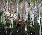 In the woods Arkady Rylov