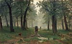 Rain in an Oak Forest Shishkin, Ivan Ivanovich