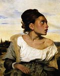 Girl Stead in a Cemetery Eugene Delacroix