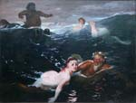Playing in the waves 1883, Arnold Bocklin