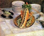 Still Life with Crayfish Gustave Caillebotte