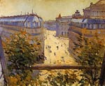 Rue Halevy, Balcony View Gustave Caillebotte