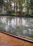 The Yerres, Rain Gustave Caillebotte