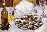 Still Life with Oysters Gustave Caillebotte