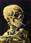 Skull with Burning Cigarette Van Gogh