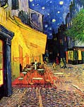 The Cafe Terrace on the Place du Forum, Arles, at Night 1888 Van