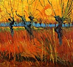 Willows at Sunset 1888 Van Gogh