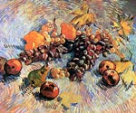 Still Life with Apples, Pears, Lemons and Grapes 1887 Van Gogh