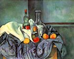 Still life, peppermint bottle Paul Cezanne