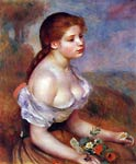 Young Girl with Daisies Renoir