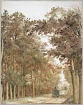 Forest Road with Two Horse Drawn Carts