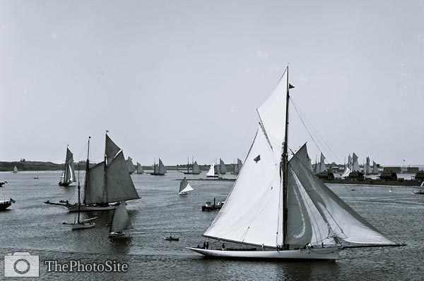 New York Yacht Club Rhode Island, Newport harbor 1888 - Click Image to Close