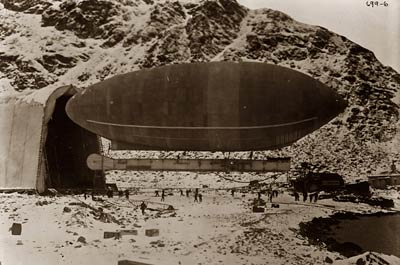 Blimp-Wellman air ship, Spitzbergen