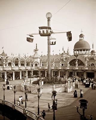 Whirl amusement ride Luna Park Coney Island, NY 1905