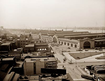 New Chelsea piers, New York between 1900 and 1920