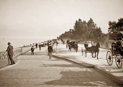 Lake Shore Drive horse and carriage, Lincoln Park, Chicago