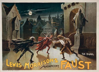 Faust Theatre Poster, 1888. Lewis Morrison.