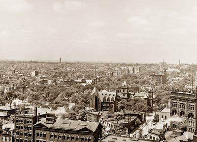 Buffalo New York from Prudential Building. Early 1900's