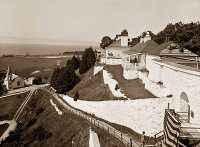 South Parapet, Fort Mackinac, Mackinac Island Michigan 1908