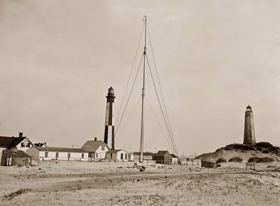 Cape Henry light houses, old and new, Virginia 1905