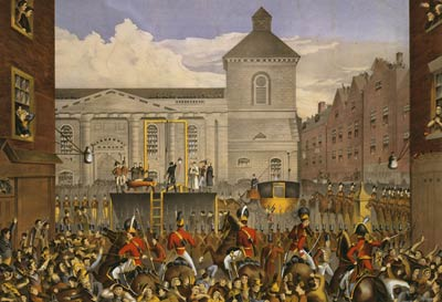 Execution of Robert Emmet in Thomas Street Dublin 1803