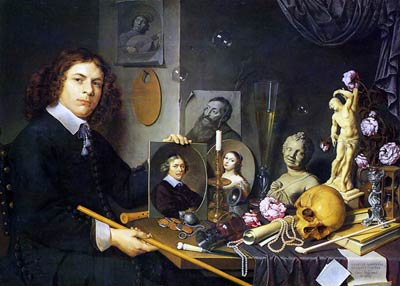 selfportrait with Vanitas by David Bailly
